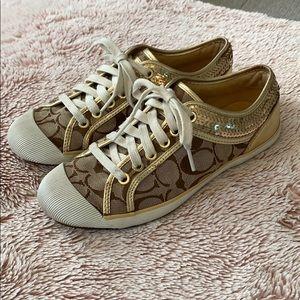 Gold Zorra Coach Shoes